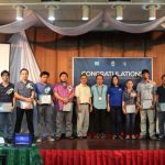 Emergent leaders hold their well-earned certificates on their graduation ceremony with Mr Faryadi, XSF Executive Director Mr Roel Ravanera and Department of Interior Local Government Region X representative Engr Jane Docallos, MNSA.