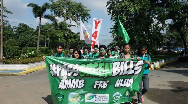 Environmental advocates, including the youth, marched for the passage of the Green Bills. Photo by CLUP Now!