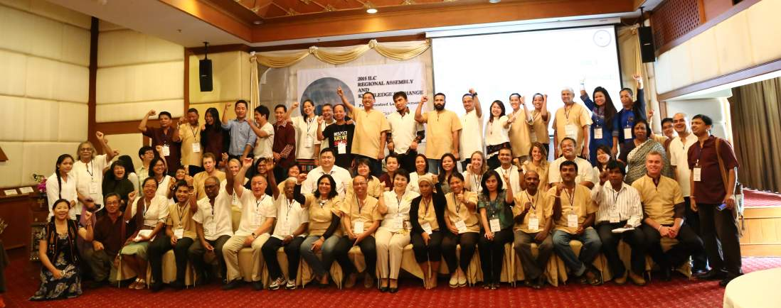 ILC Asia members and land governance advocates calling for Land Rights Now! Photo by ILC.