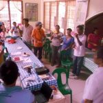 Paralegal volunteers in Capiz and Iloilo actively participate in a workshop of peasant organizing. Photo by CARRD.