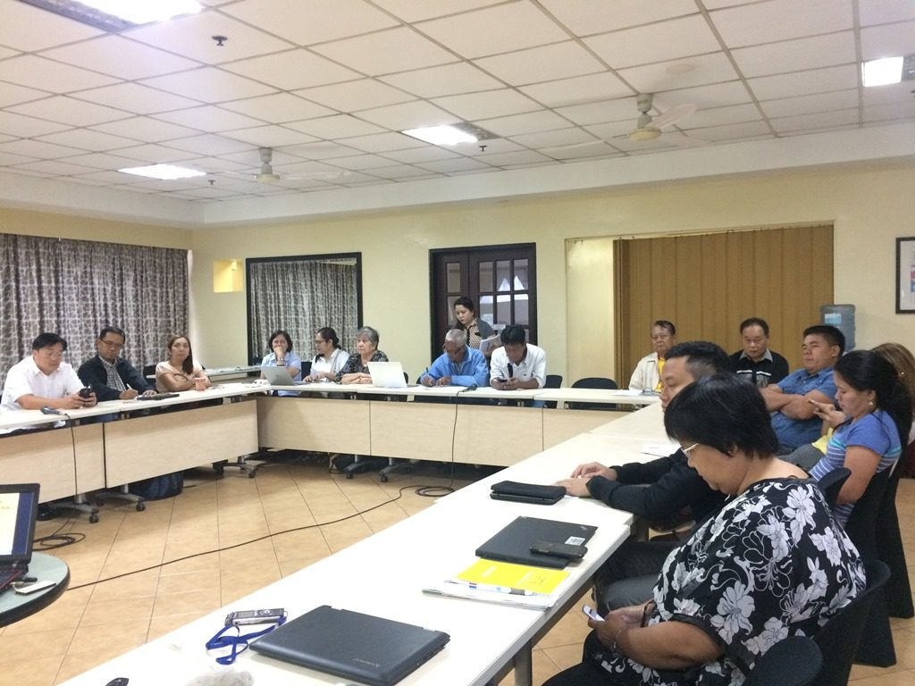 Participants or the roundtable discussion from CSOs, grassroots, the Department of Agrarian Reform, and from legislators' offices.