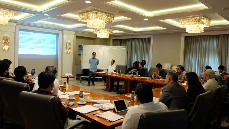 ANGOC Executive Director Nathaniel Don Marquez introducing the ILC-NES in the Philippines. Photo by CARRD