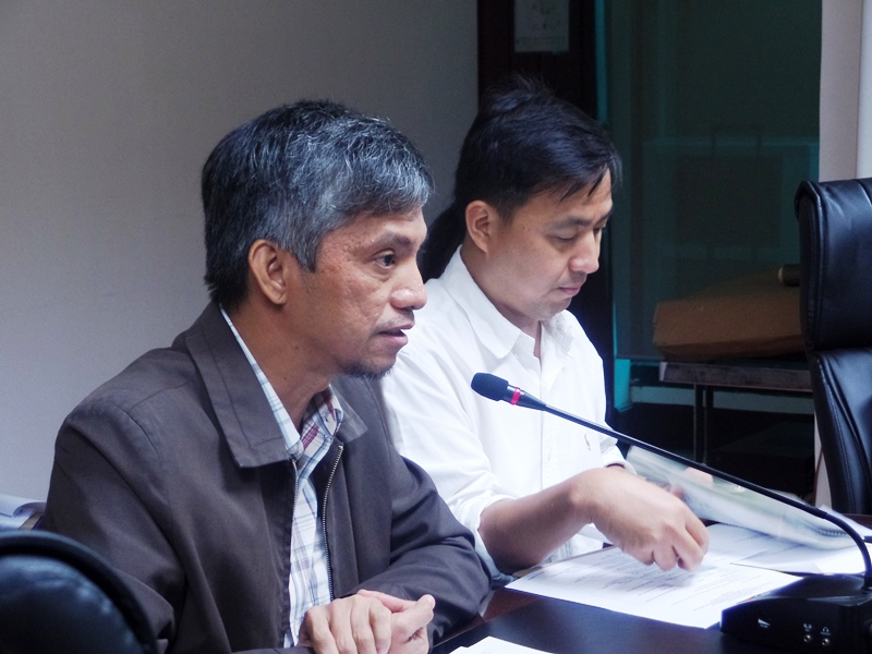 Mr. Henry Pacis of DENR-LMB presenting the LSDF review.